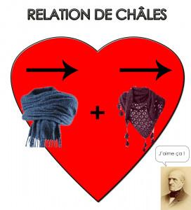 Et oui, c'est un jeu de mot entre le châle, l'écharpe et l'éminent mathématicien Michel Chasles !